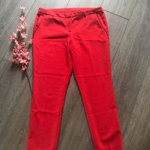 Adrienne Vittadini red women's dress pants size 14